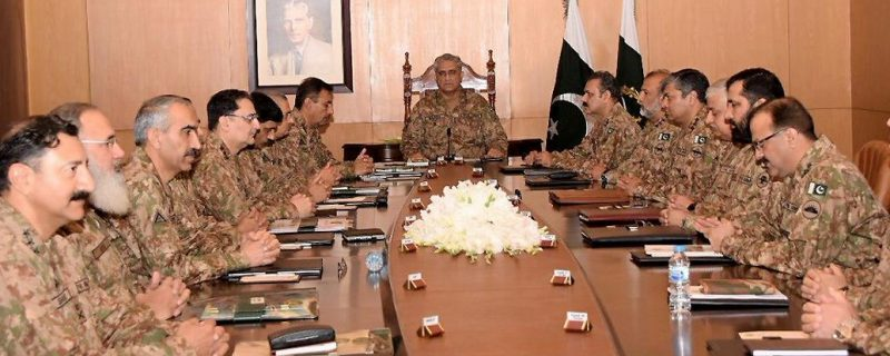 Rawalpindi, Army Chief General Qamer Javid Bajawa Presiding Core Commander Conference at GHQ.
